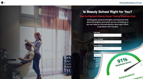 Raphael's School of Beauty Culture Virtual Admissions Advisor