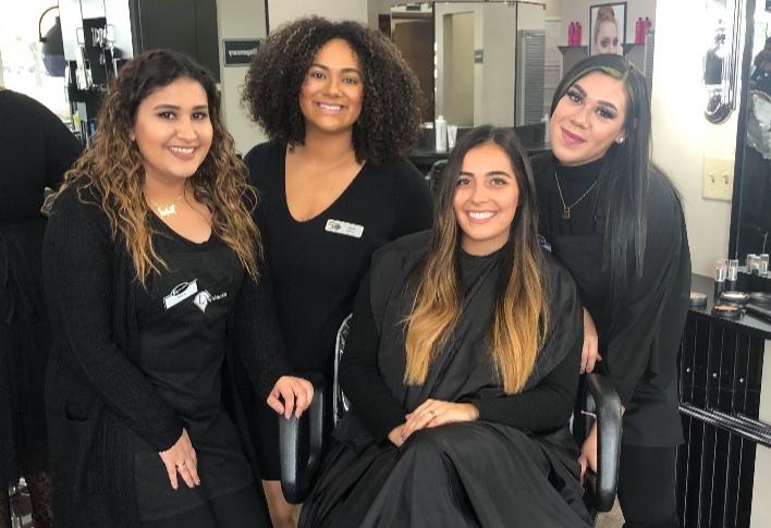 Four women smiling at Raphaels salon